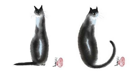 Chinese Cat Prints by Cheng Yan