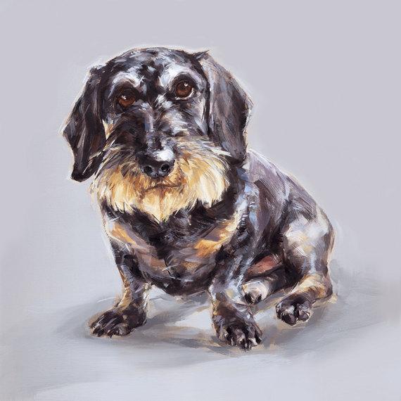 'Teckel' paintmydog on Etsy