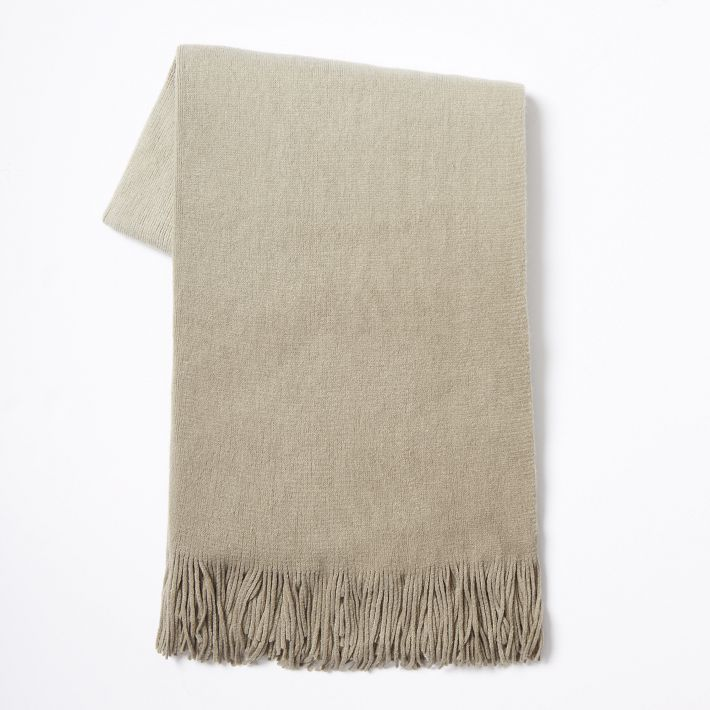 ombre throw from West Elm $49.99 but on sale right now from $26.99 to $39