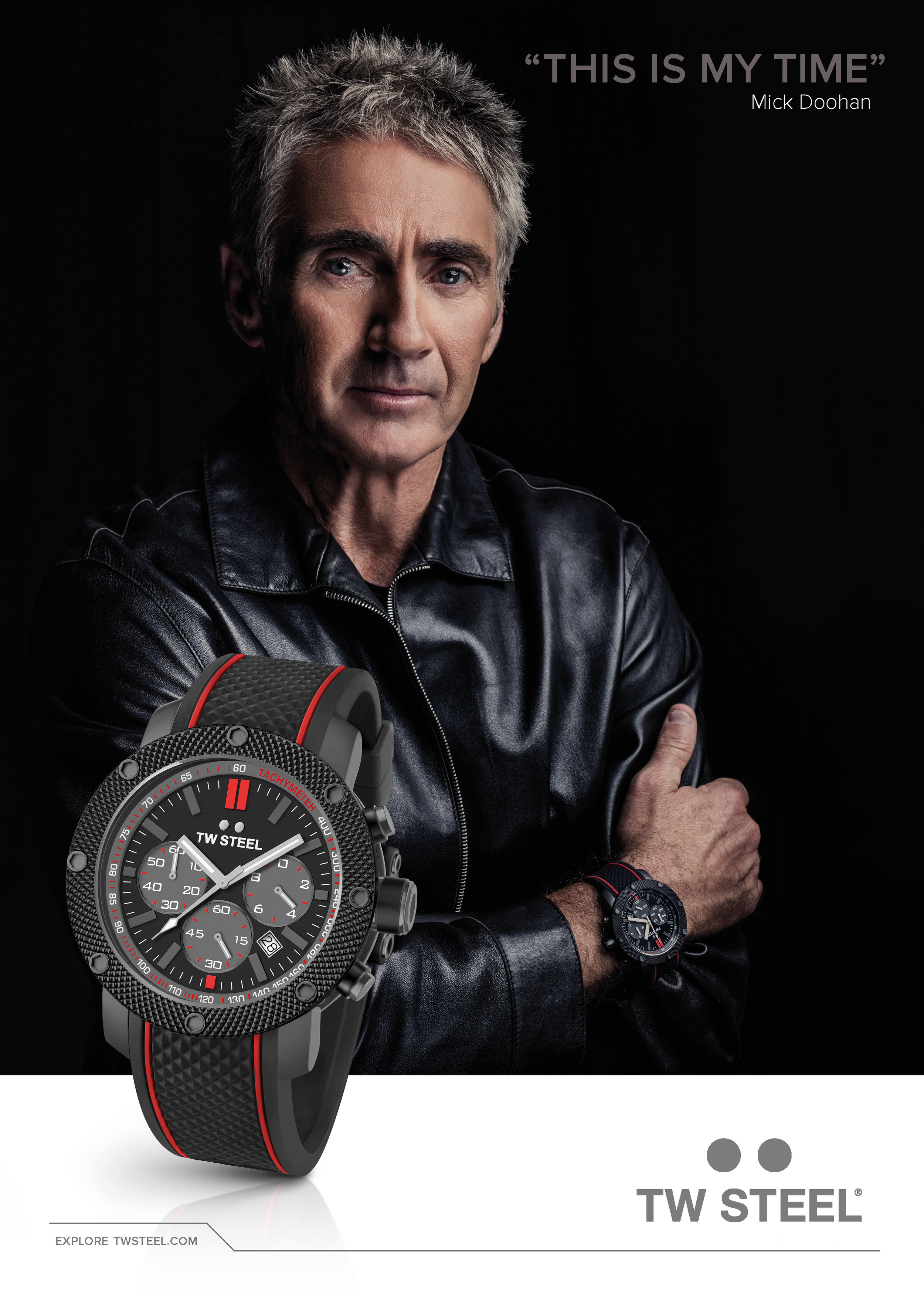 Commercial portrait of Mick Doohan for TW Steel