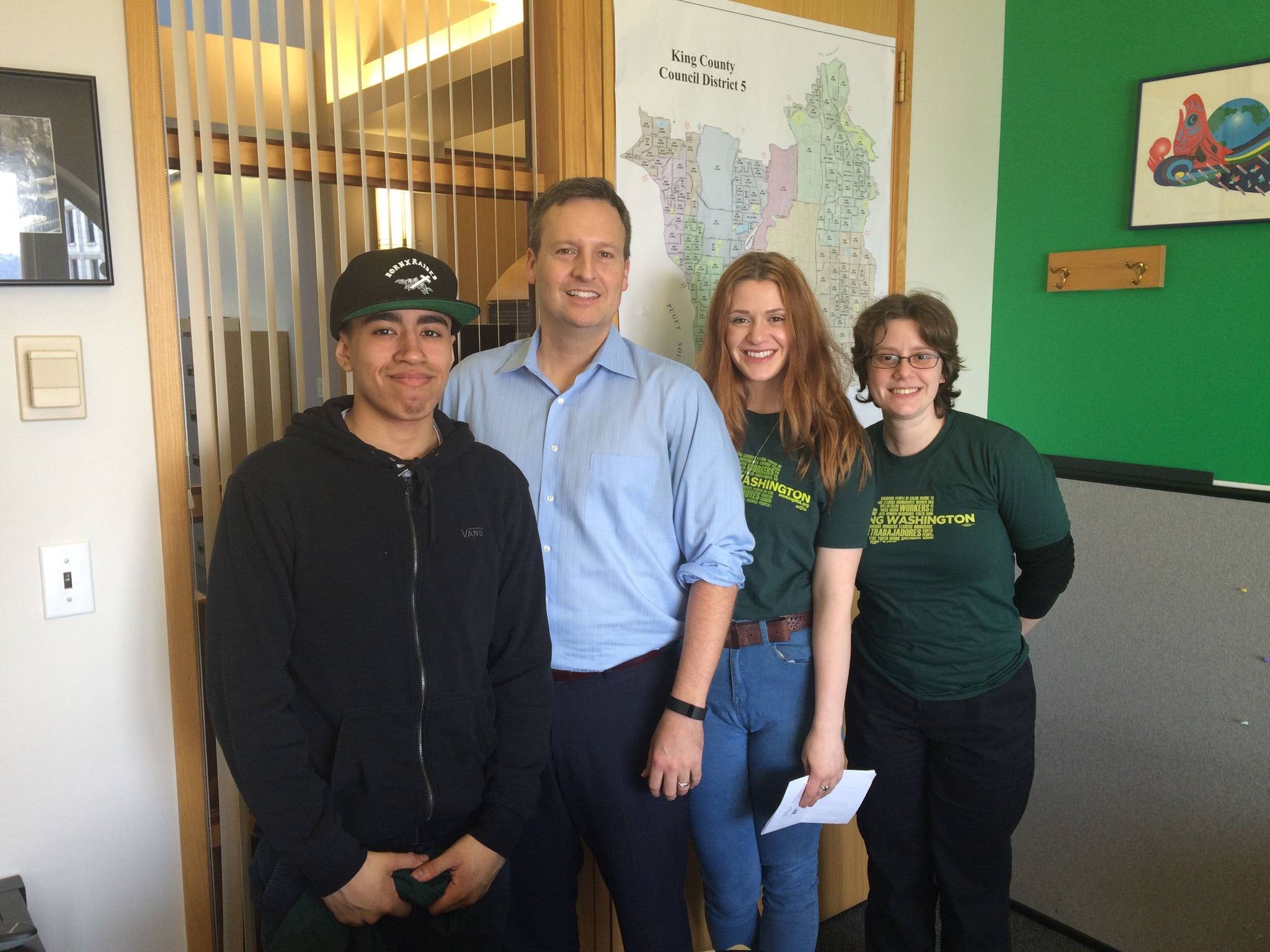 King County Councilmember Dave Upthegrove with us after our meeting.