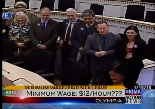This is how KIMA-TV in Yakima thought about the reality of a $12 minimum wage in 2015. This year we passed a $13.50 minimum wage.