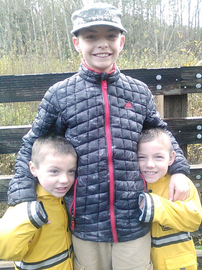 My three beautiful boys.My most important family responsibility is being there for them.