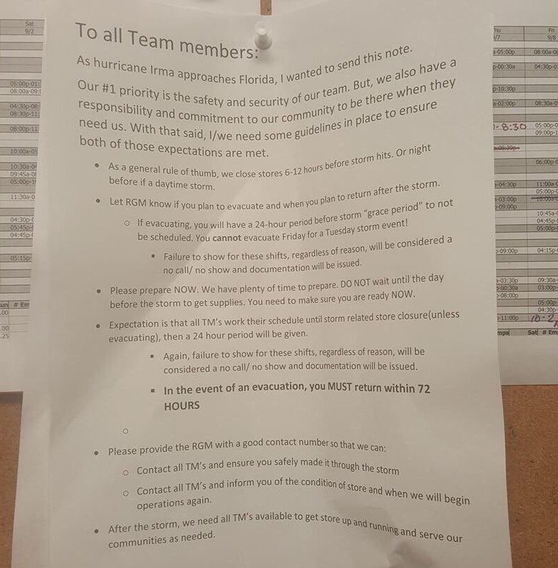 Notice posted at a Florida Pizza Hut, tweeted by @uhwpa