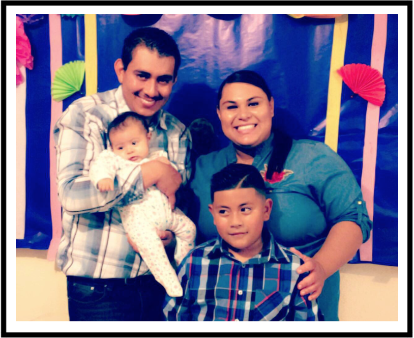 Omar with his partner Rebecca and their children, Jorge and Melodia