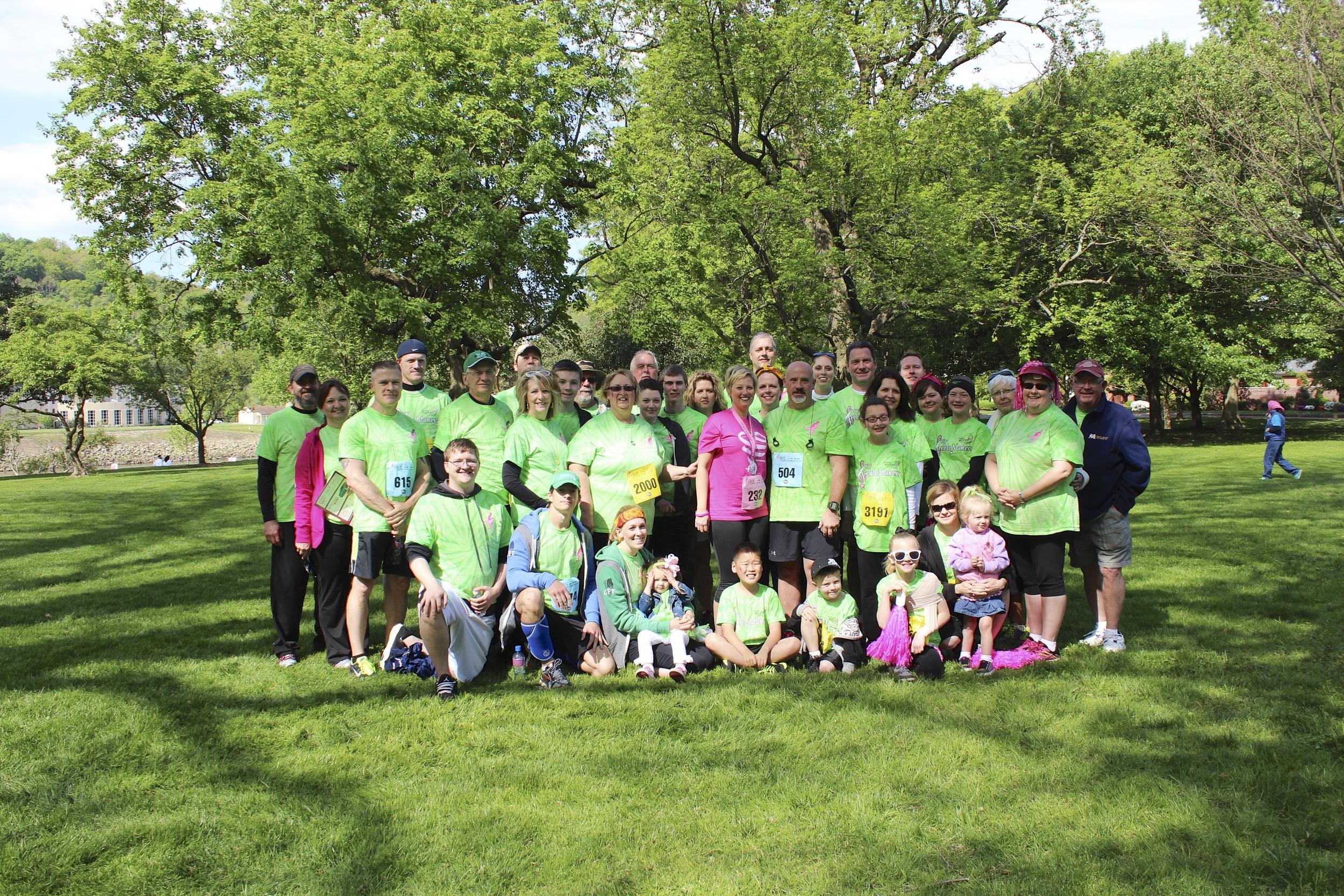 Race for the Cure: Team Stefanie, 5/3/14