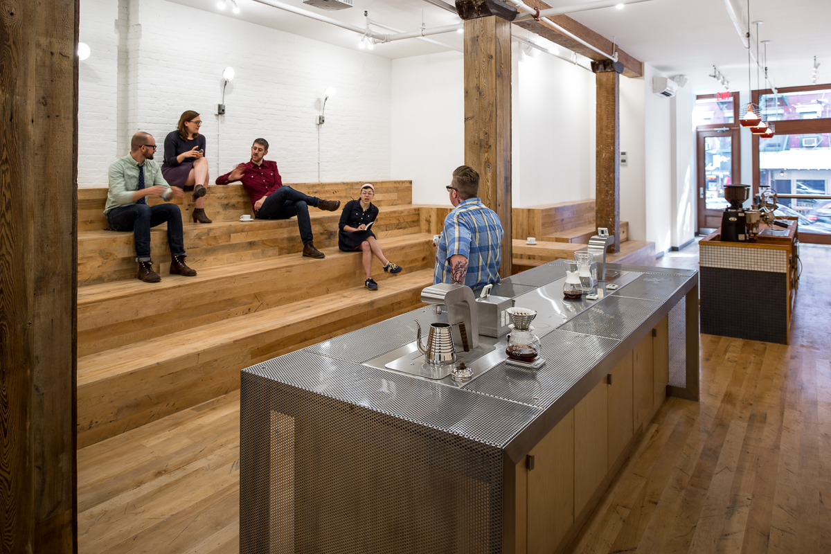 Pour over table and bleachers
