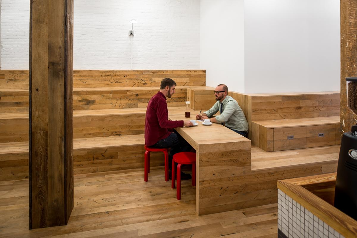 Bleacher meeting table