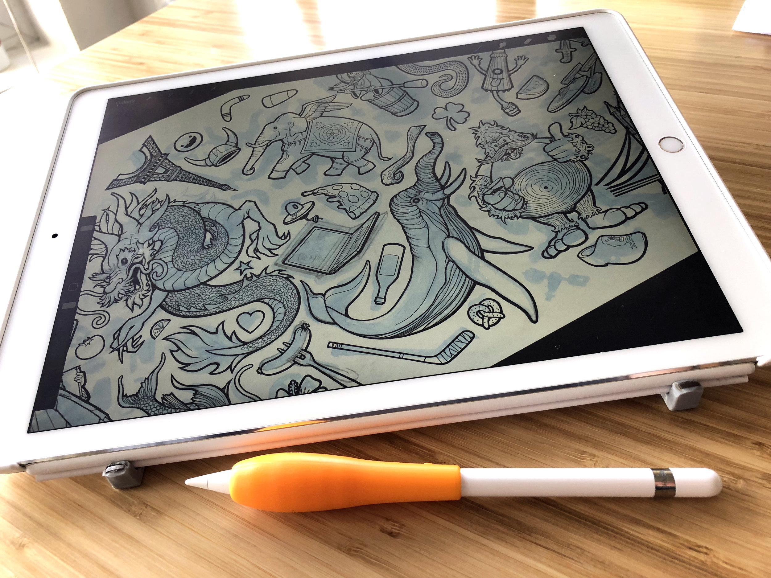 Procreate on iPad w/Apple Pencil