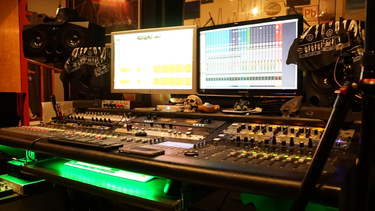 Getting setup for a session at Shine On Studio