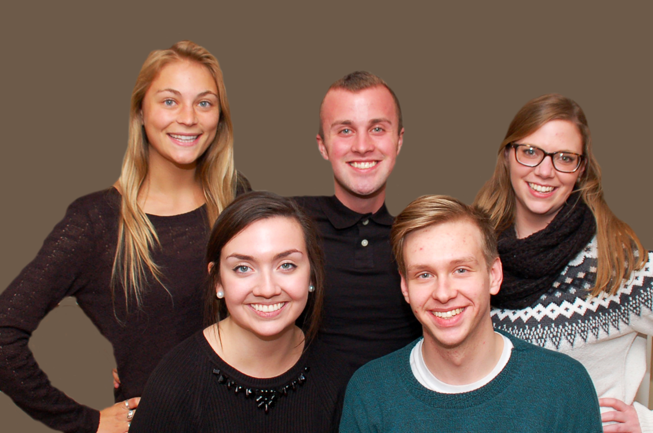 Back Row:Left to Right -- Kerry Johnson, Jeremy Huff, Alexandria Gallager Front Row: Stephanie Mann and Jared Carrigan