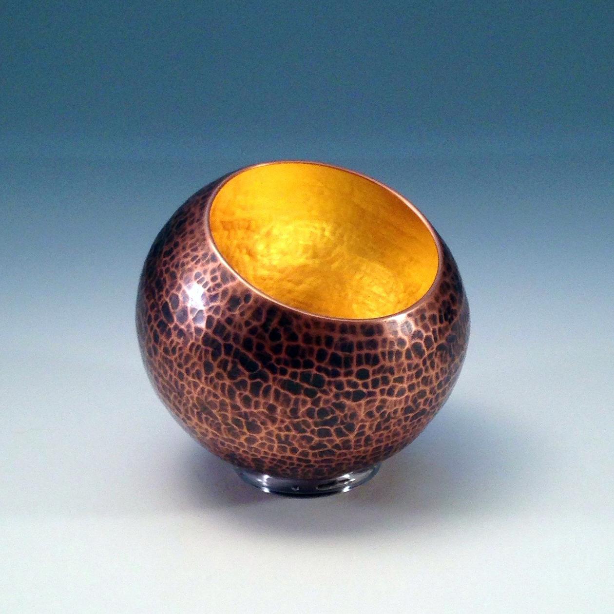 """Raised Copper Vessel, """"Copper Orb"""""""