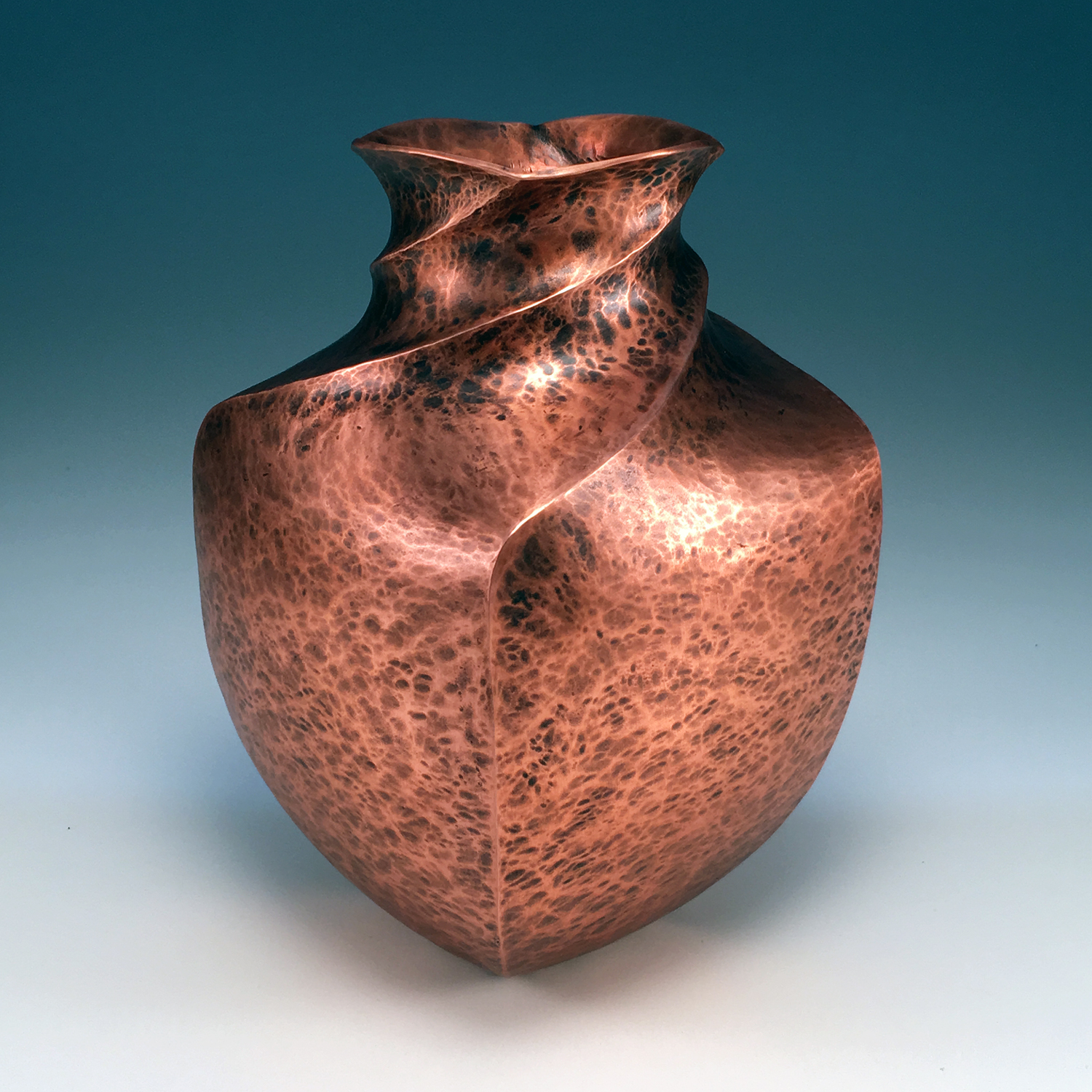 """Raised Copper Bottle, """"Simply Complicated"""""""
