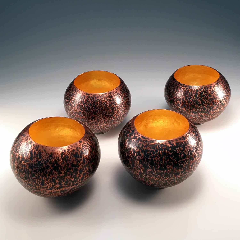 """Raised Copper Vessel, """"Copper Orbs"""""""