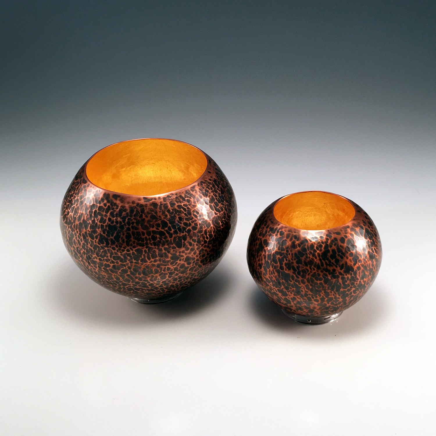 """Raised Copper Vessels, """"Copper Orbs"""""""