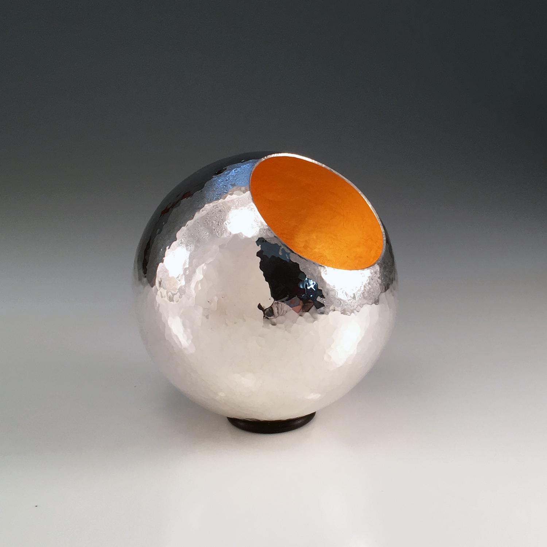 "Raised Silver Vessel, ""Silver Orb I"""