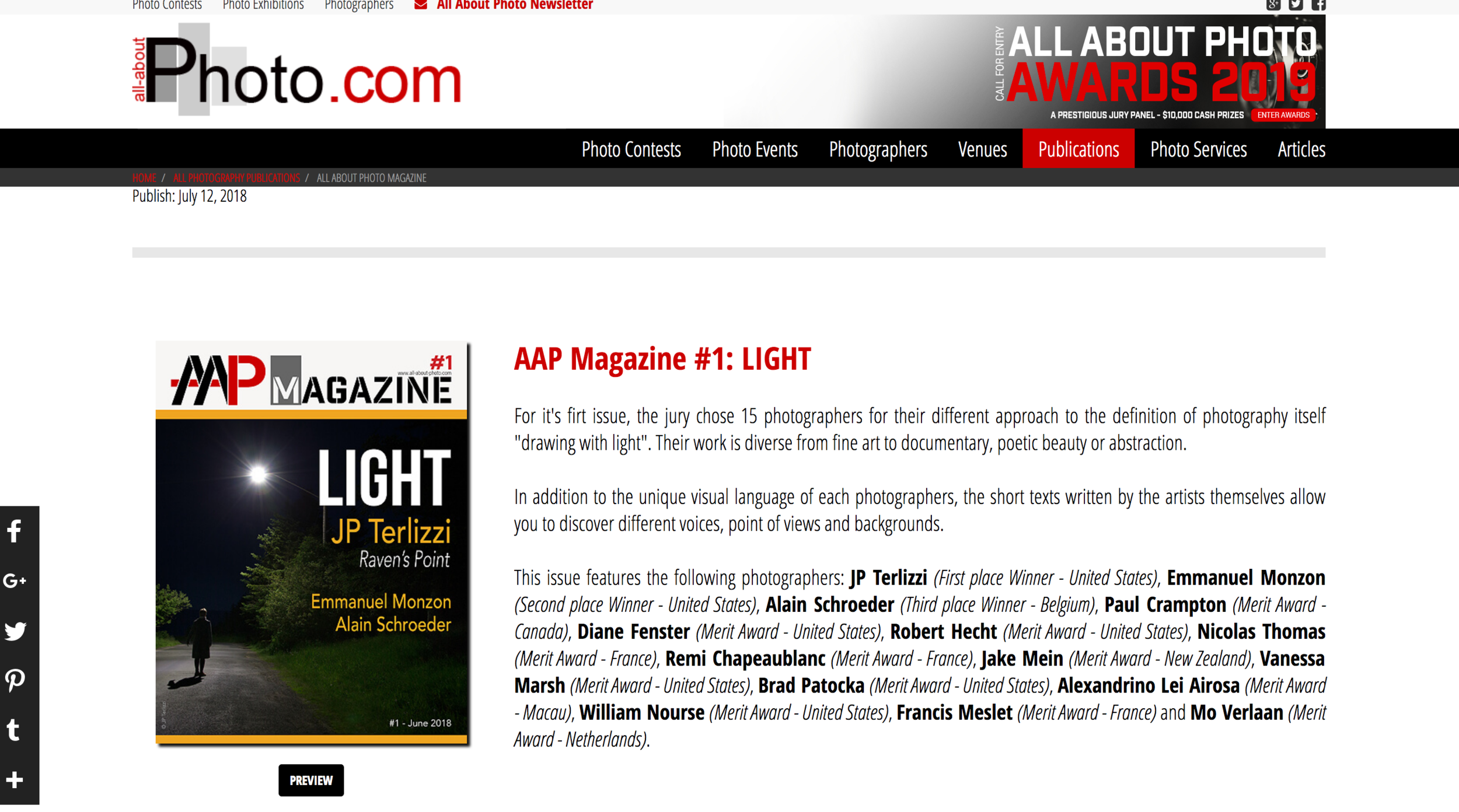 AAP Magazine Issue #1 Featured Spread