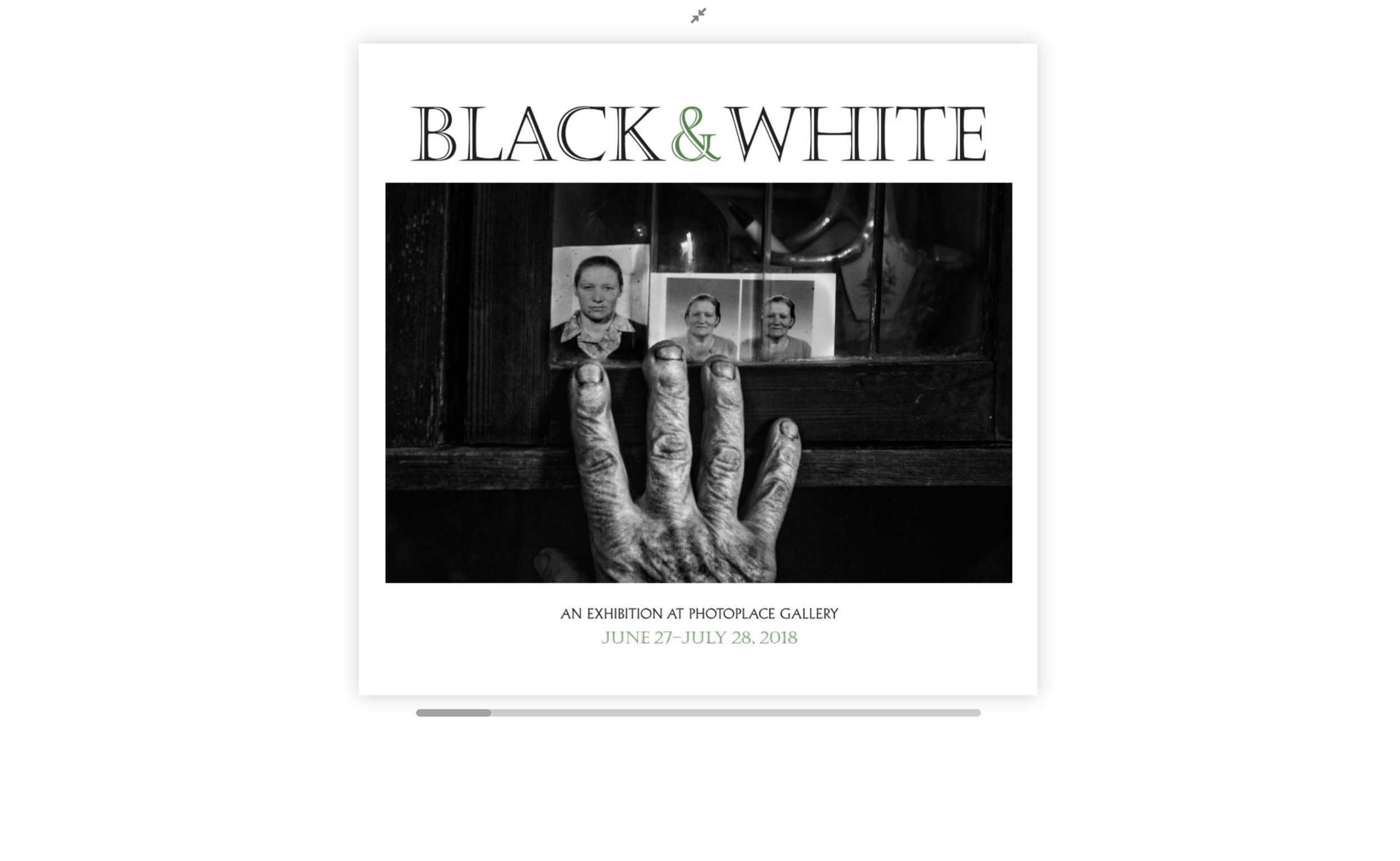 Photo Place Gallery - Black and White 2018