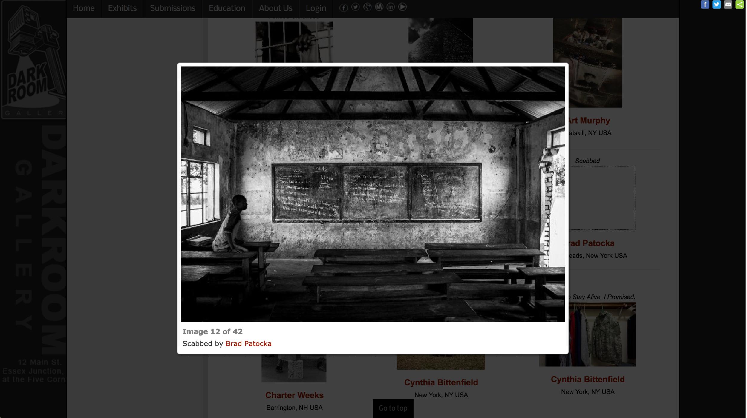 Juror Selection: Darkroom Gallery - War and Peace Exhibition