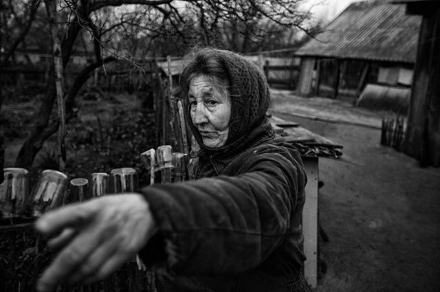 Maria. Settler of Chernobyl. Nuclear Refugee. Archive Photo 2015. —————————————— Exclusion Zone. Chernobyl, Ukraine.