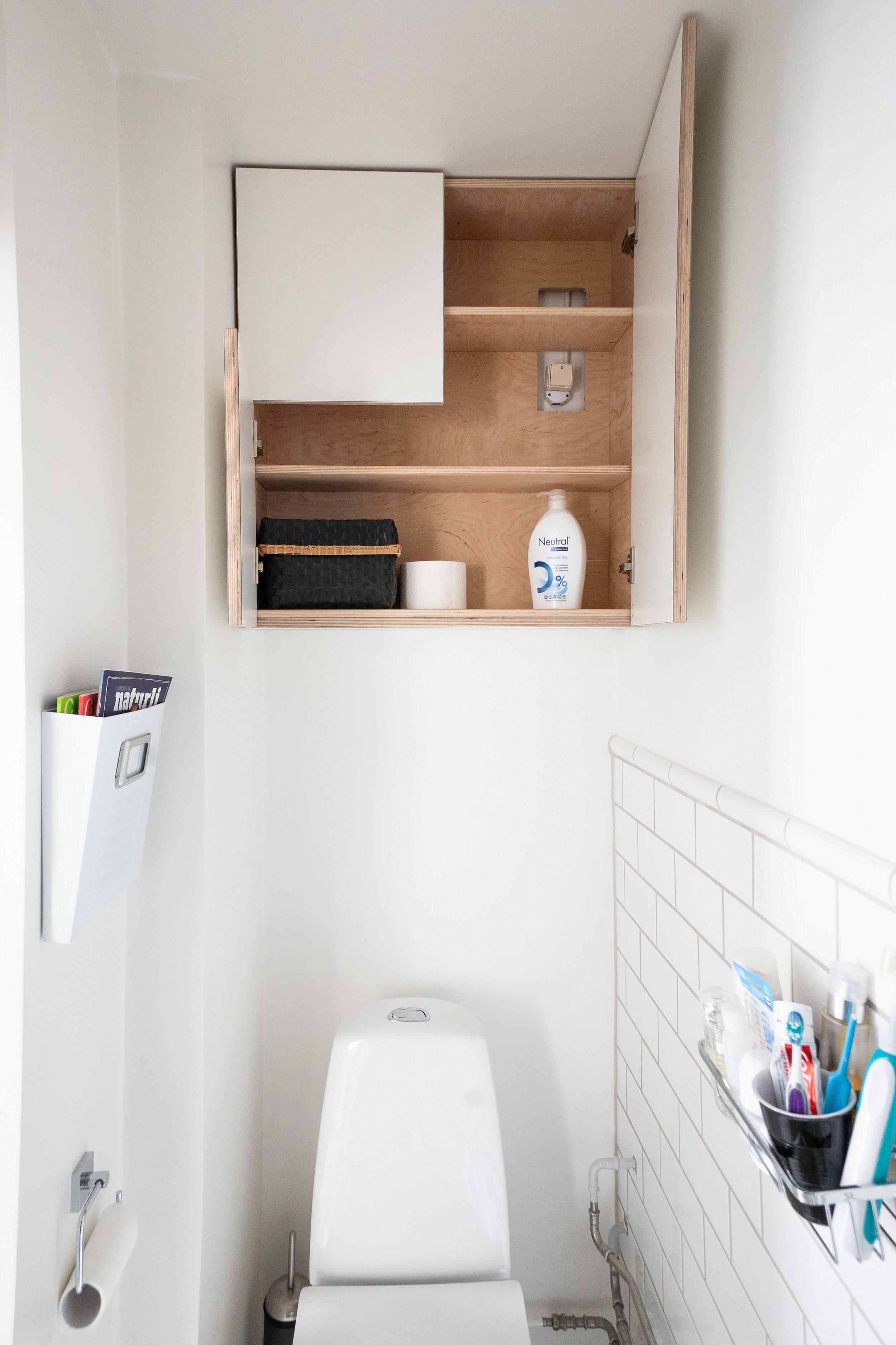 Indbygget toiletskab