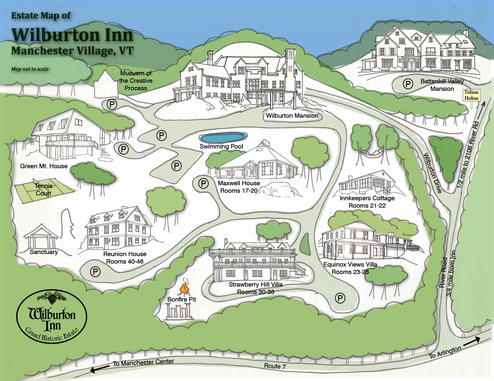 Wilburton Inn Property Map