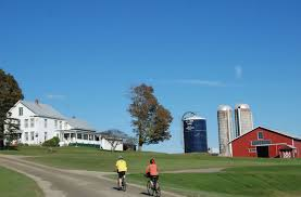 Bicycling Vermont Farmland in Manchester Vermont