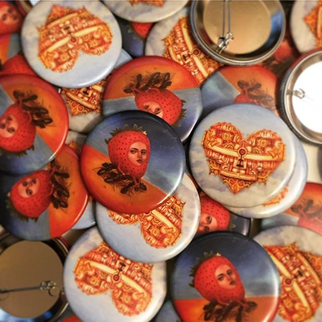 First two #BrokeBot #buttons arrived in the mail today! 2.25in
