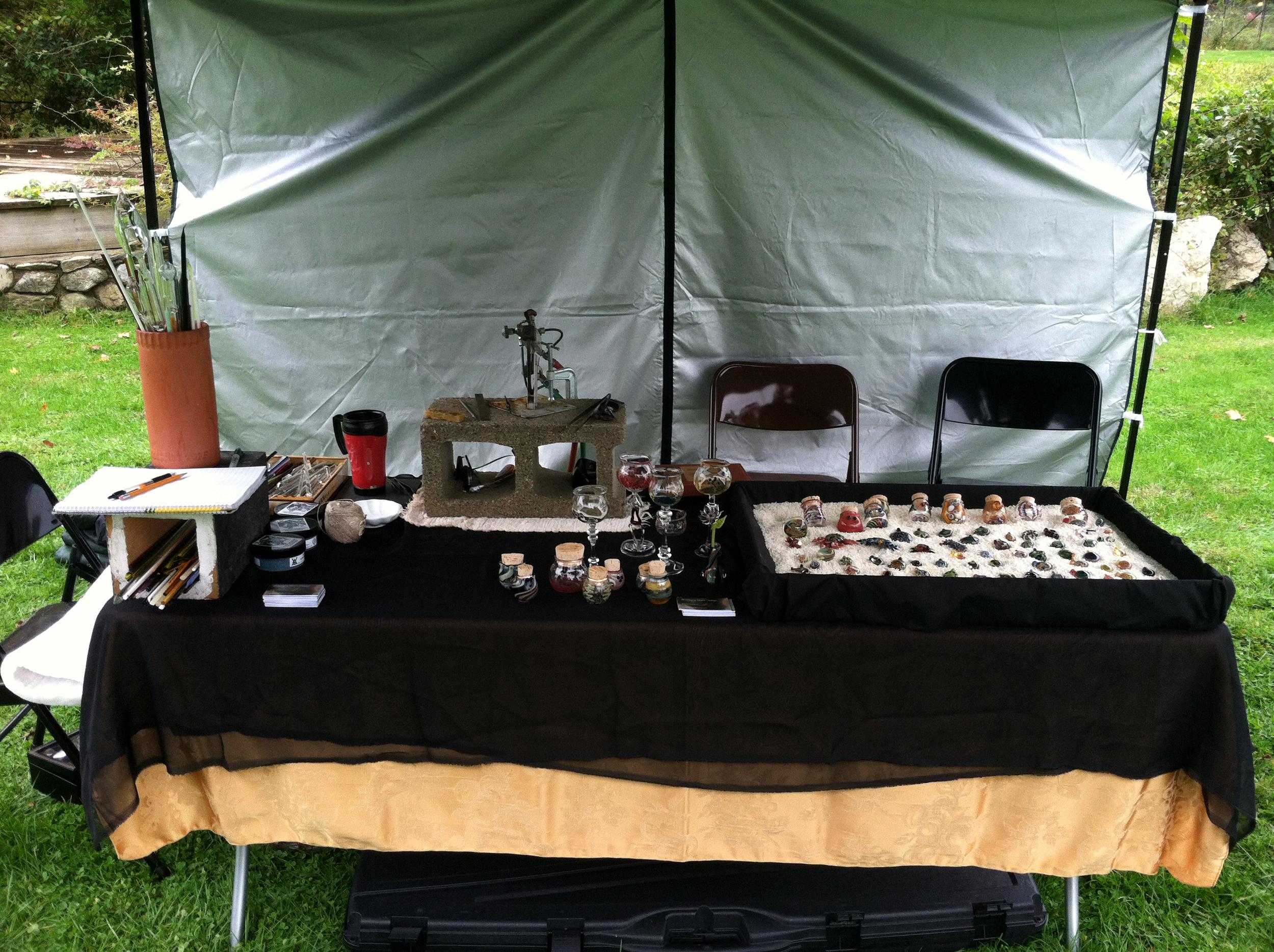 Gramigna Glass booth setup at 2012 South Salem Library Fair in South Salem, NY.