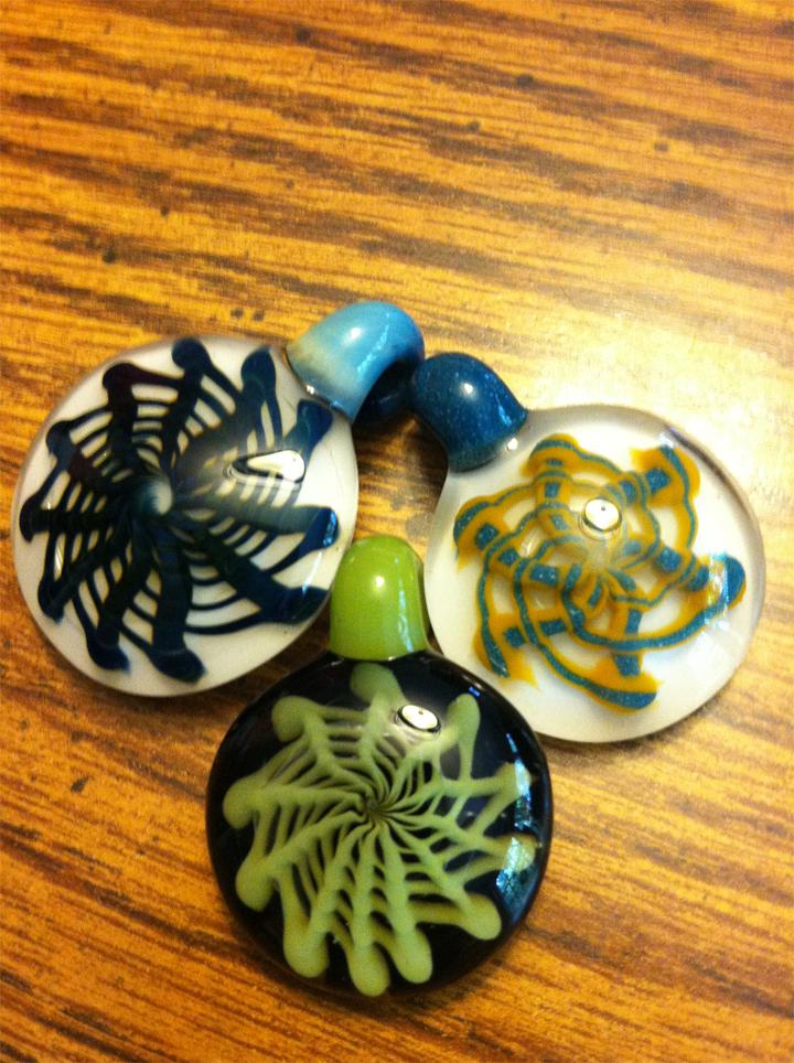 Retticello pendants made in 2012.  Sold/Unavailable.