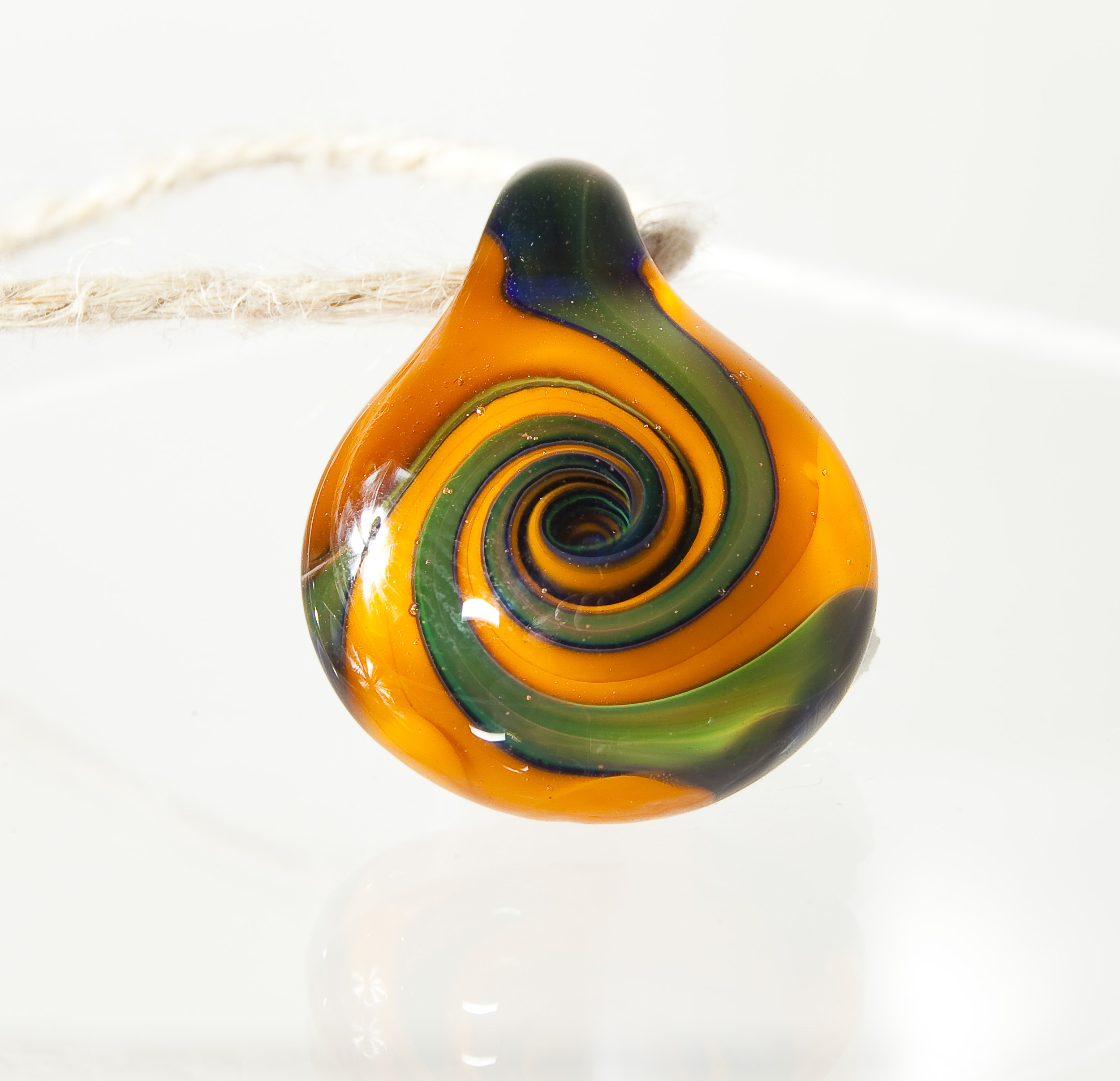 Blue moon and Rasta Gold spiral made in 2011.  Sold.