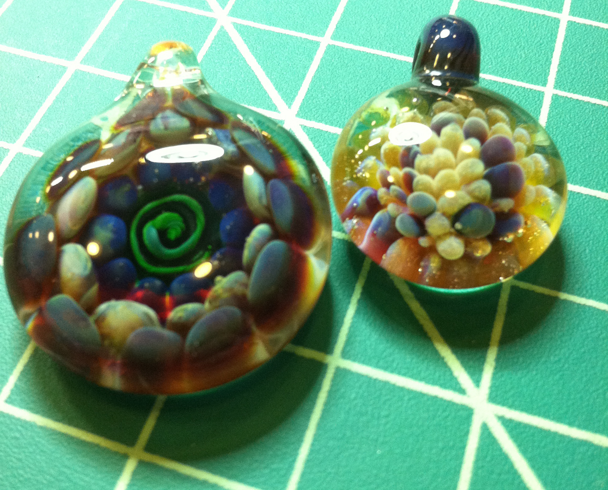 Pendants made in 2012.