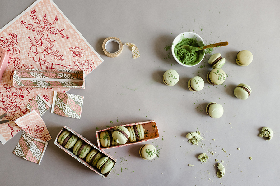 Green Tea Rice Macarons