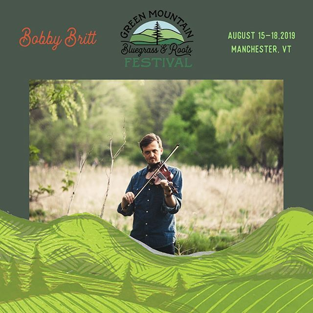 "Catch Bobby Britt rippin' the fiddle to shreds this weekend at The Green Mountain Bluegrass Festival. Solo set on Sunday and with his main squeeze @townmountain on Friday! Still plenty of tapes left of his debut album ""Alaya"" from the link in bio. Hope you all have a great weekend. @bobbybritt @greenmountainbluegrass"