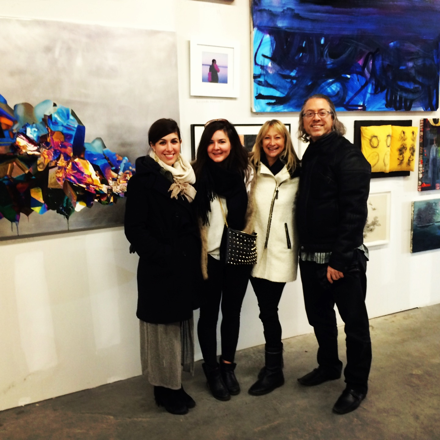 Some friends checking out my painting at The Last Brucennial