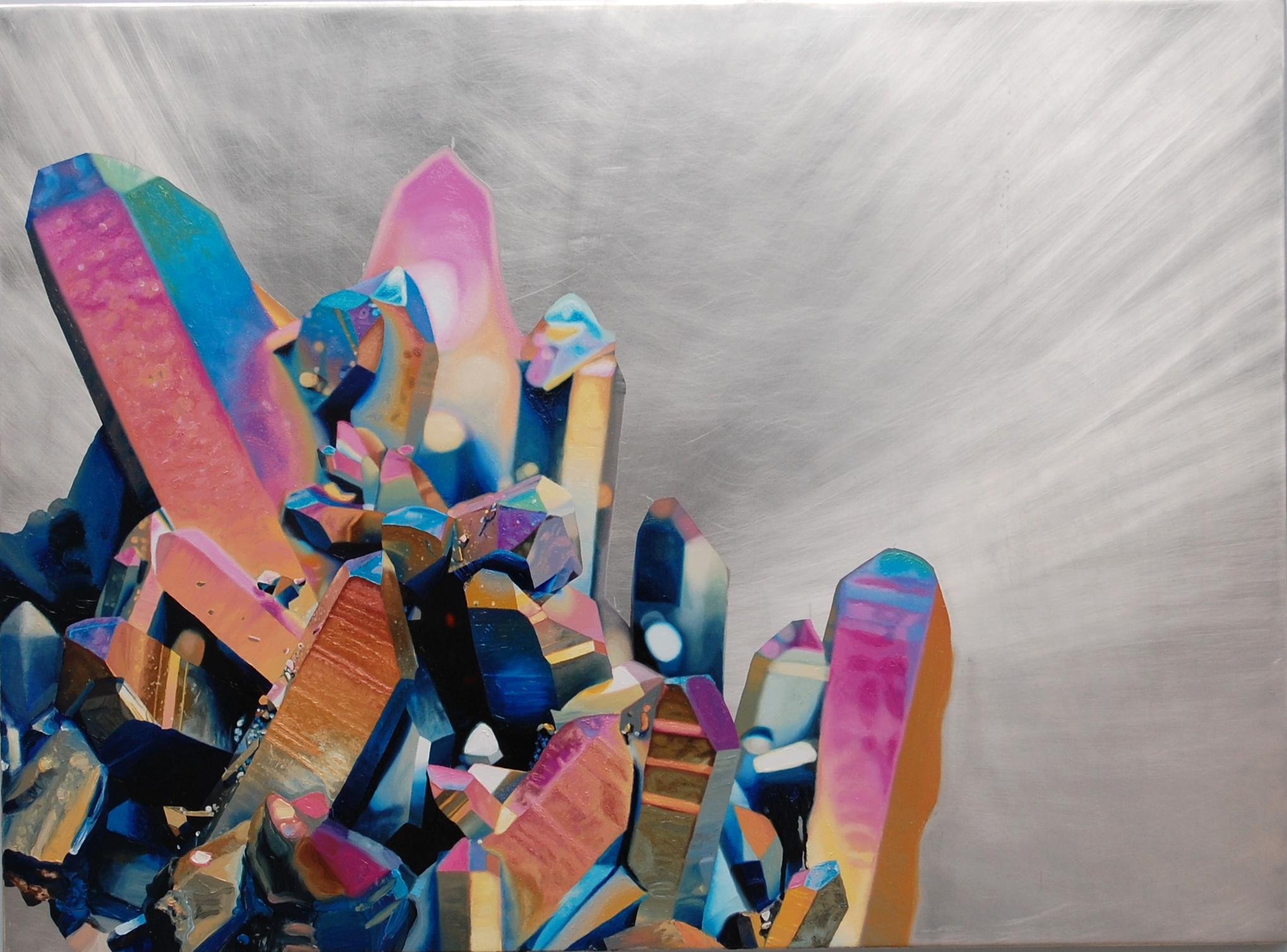 "Double Rainbow , oil on aluminum, 34x46"", 2013"