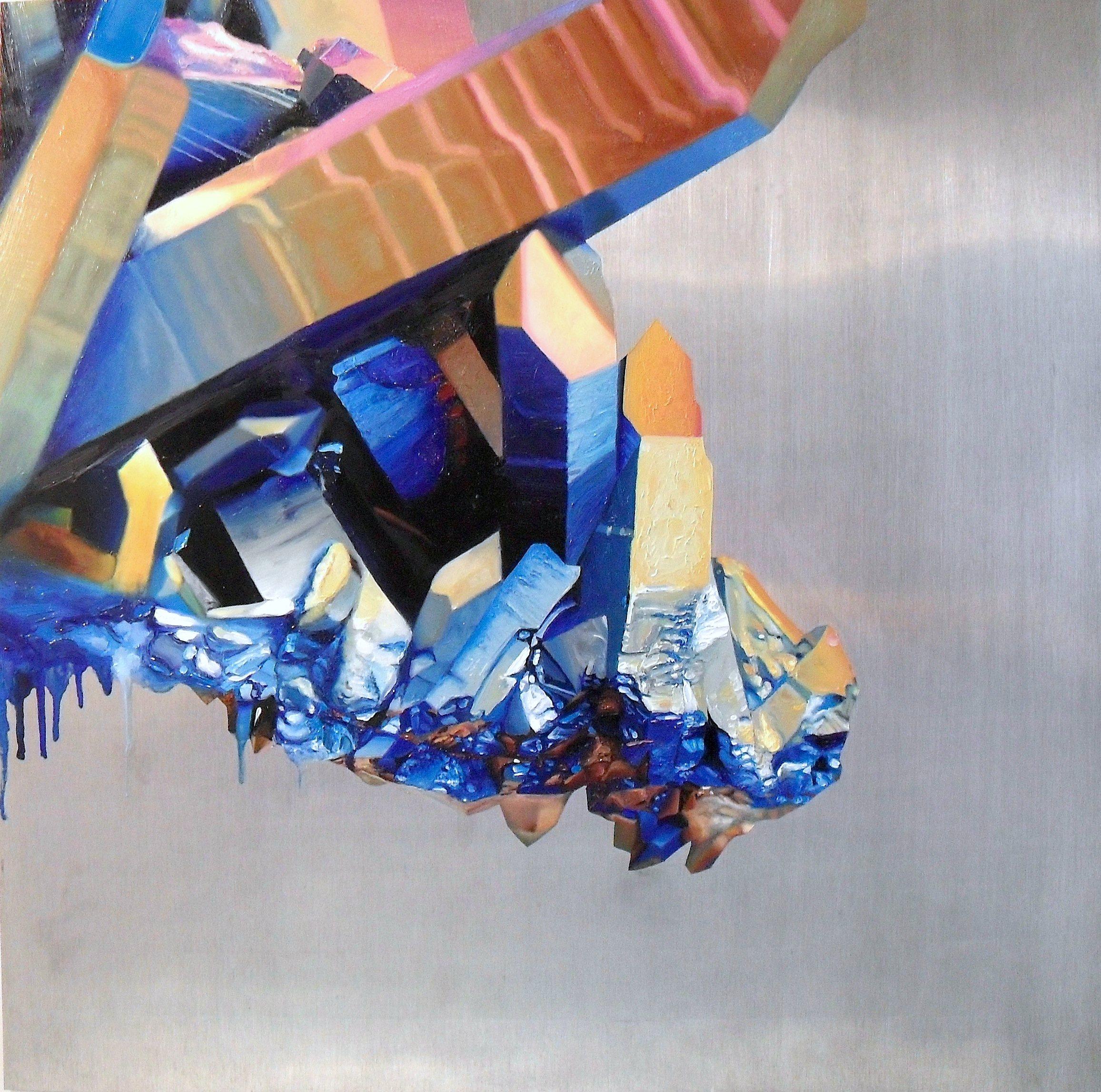 """TQ1 , oil on aluminum, 24x24"""", 2012"""
