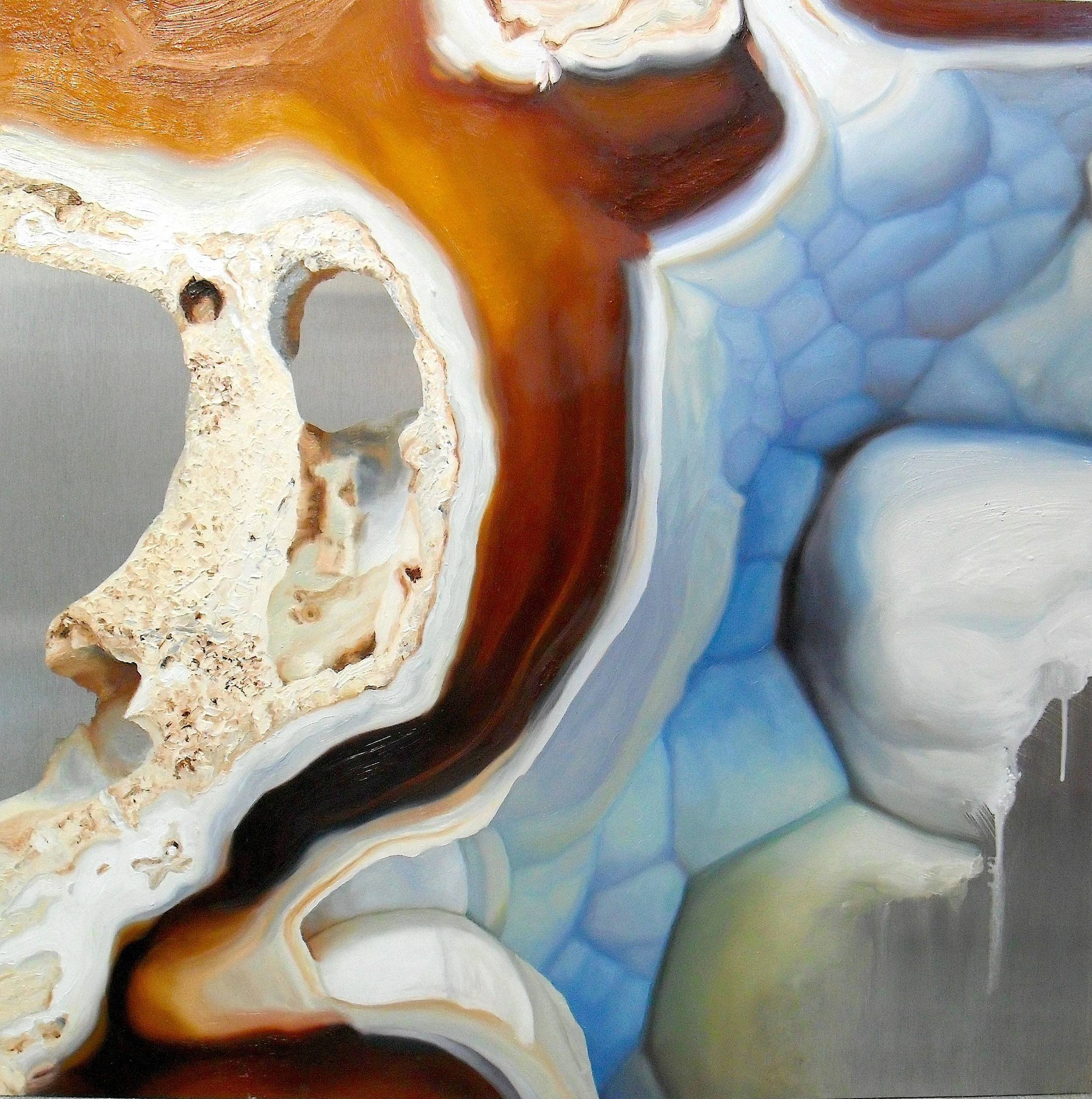 "Geode , oil on aluminum, 24x24"", 2011"