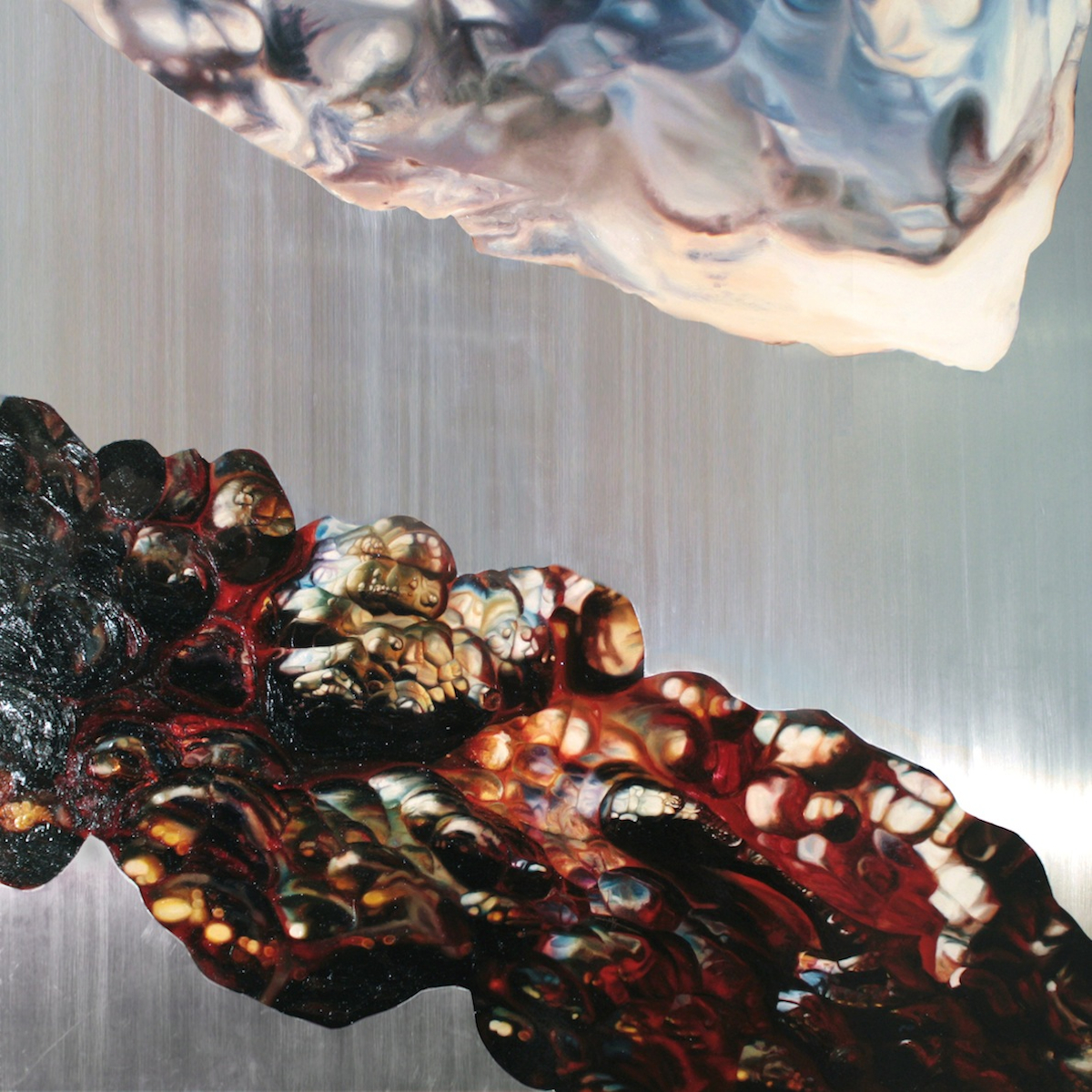 """Orbit , oil on aluminum, 46x46"""", 2010"""