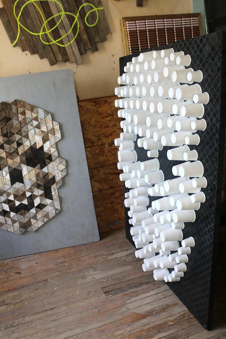Skull 1  and  Skull 2  detail, 2014