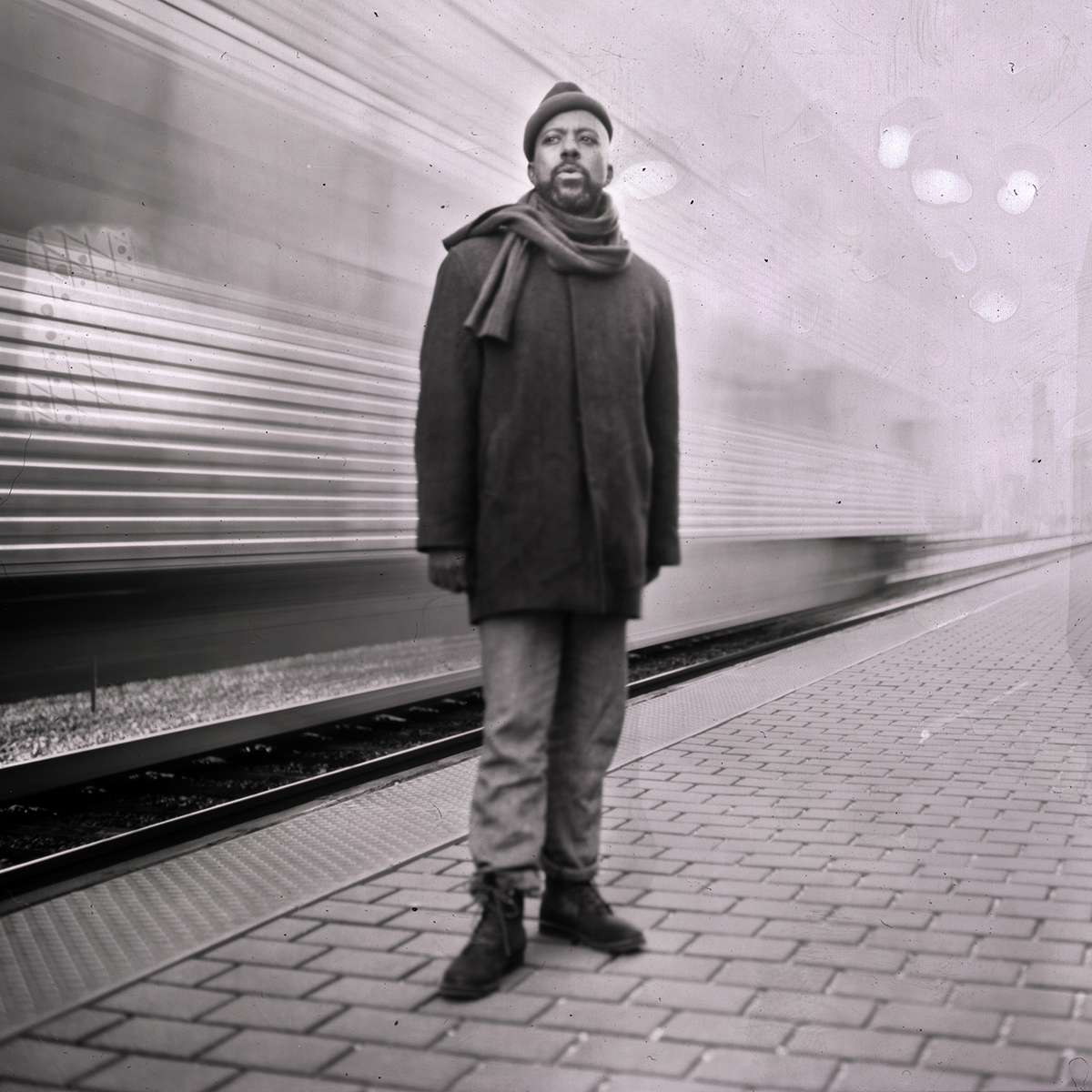 Ben LaMar Gay - Custom Album cover, 4x5 Large Format Film Photo.  This incredible album comes out May 4th!  Preview & Order here.