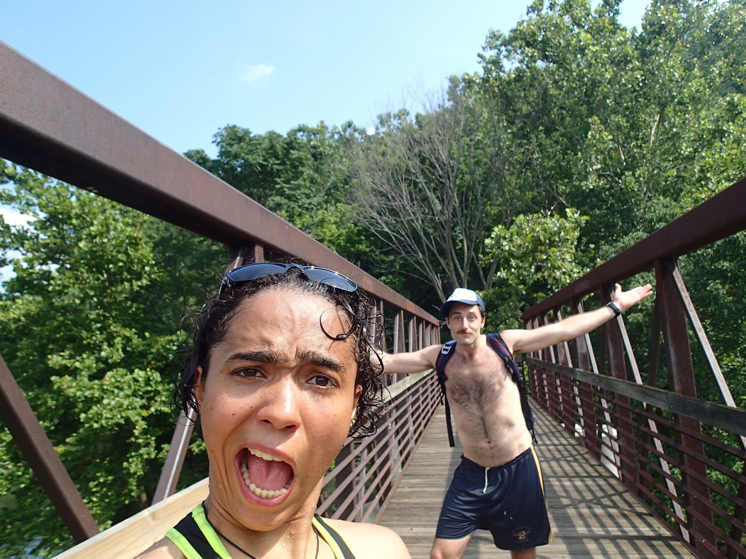 My friend Steph and I just jumped off of a bridge! (Into deep water, of course.)