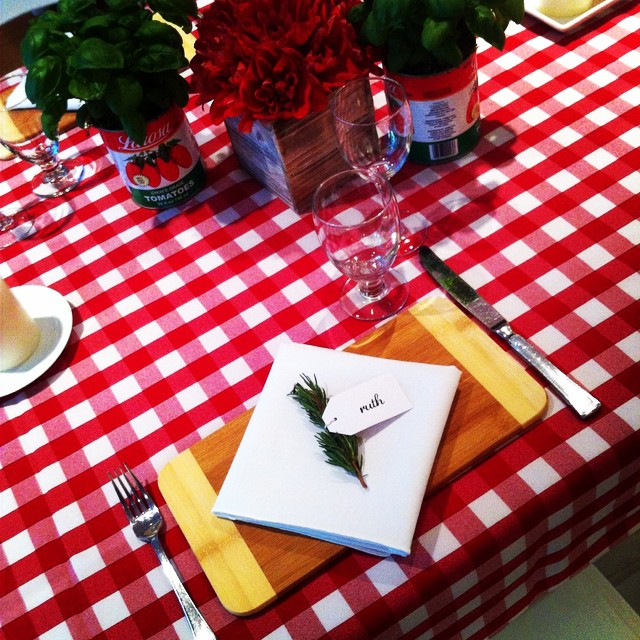 All set for tonight's birthday bash. Classic rustic dinner at nonna's-style! #italiano #bashandfete #mangia