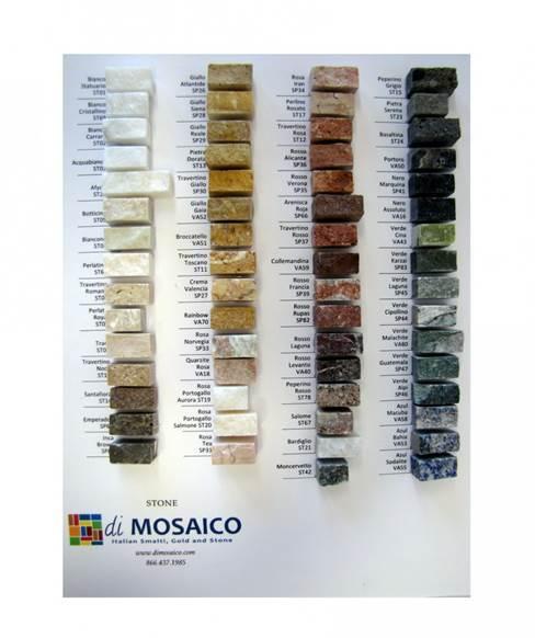 diMosaico Stone Sample Board