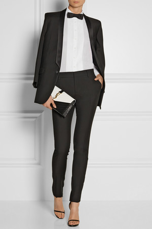 All clothing and accessories by Saint Laurent Paris.