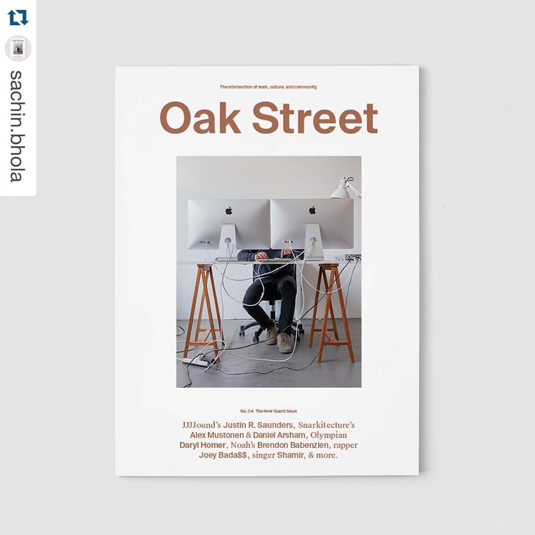 JJJJound's Justin R. Saunders, photographed by Richmond Lam, for the cover of Oak Street Magazine's, Issue No. 04,The New Guard Issue.