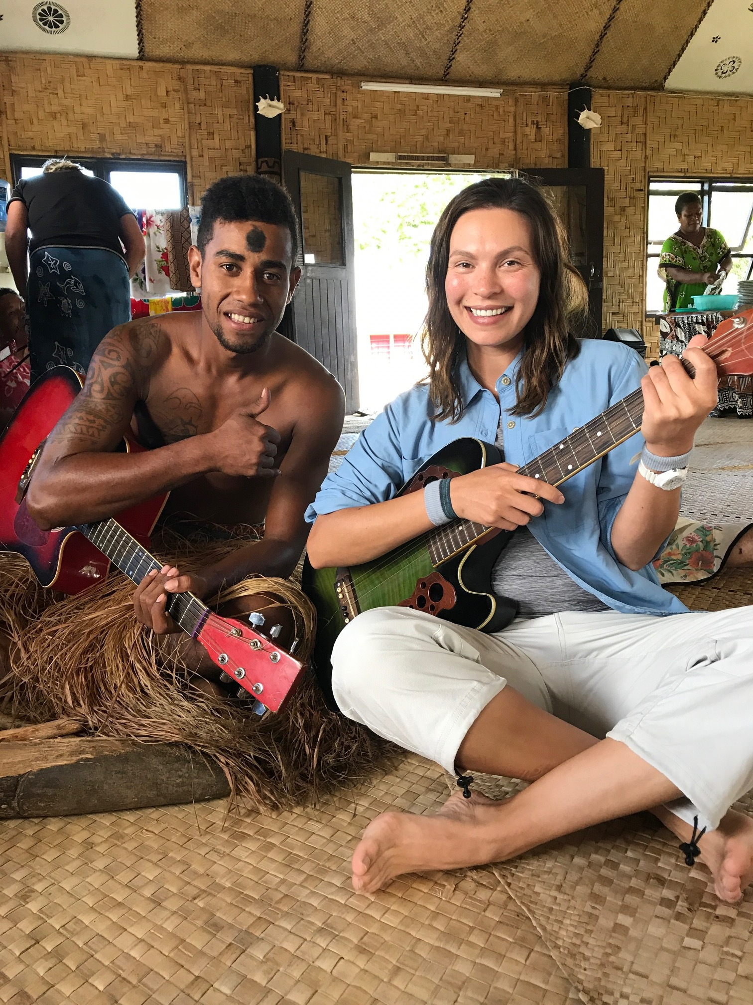 Jamming with the locals.