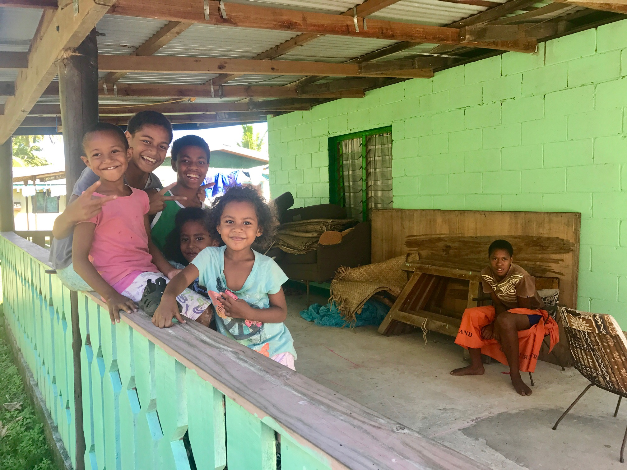 Local village visit to the kids with the big Bula smiles!!