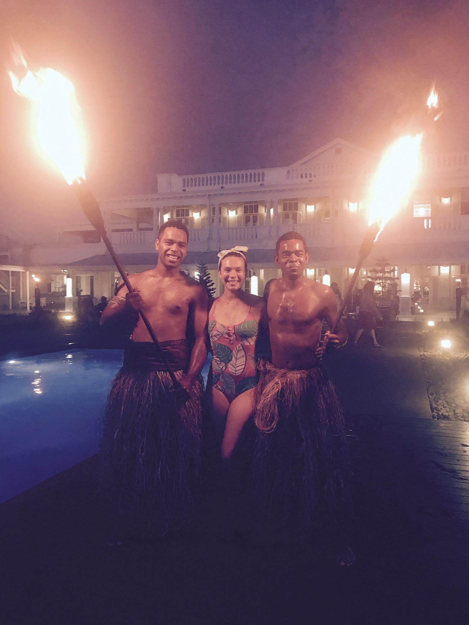 Tiki torch lighting ceremony! Goodbye Suva...