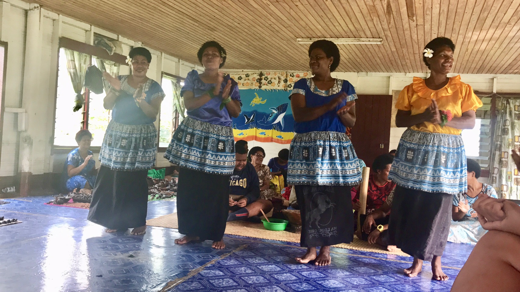 Beautiful women of the village presenting us with song and dance.